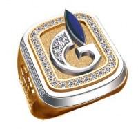 Кольцо с логотипом компании