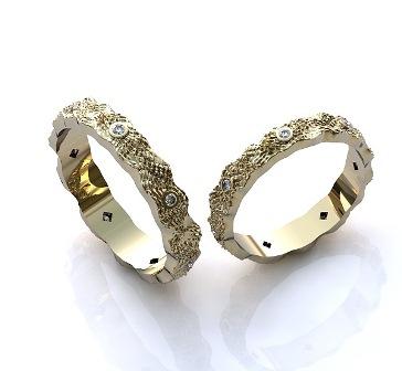 Обручальные кольца H9044