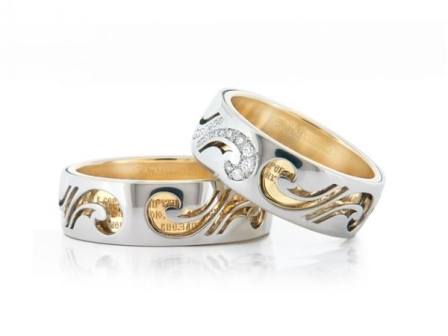 Обручальные кольца H9057