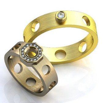 Обручальные кольца H9075