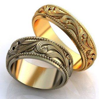 Обручальные кольца H9077