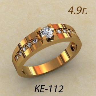 Обручальные кольца КЕ-112