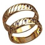 Обручальные кольца 20017