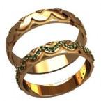 Обручальные кольца 20036