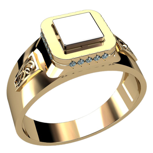 Мужское кольцо 3033