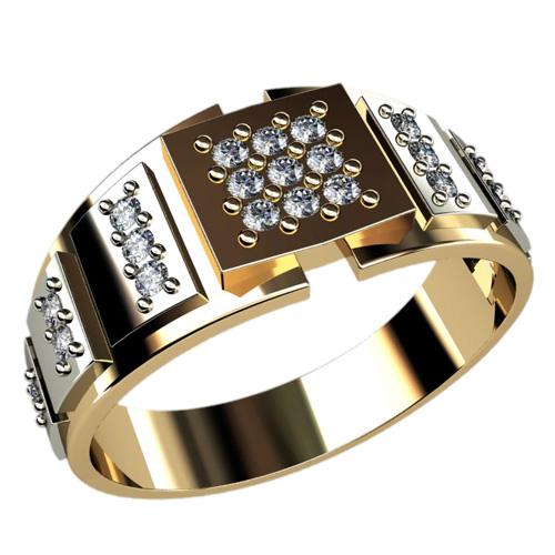 Мужское кольцо 3037