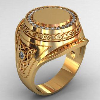 Мужское кольцо КМ-494