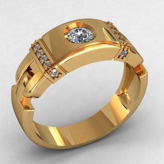 Мужское кольцо КМ-495
