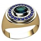 Мужское кольцо 3035