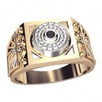 Мужское кольцо 3064