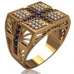 Мужское кольцо 3146