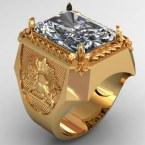 Мужское кольцо КМ-489