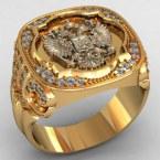 Мужское кольцо КМ-500