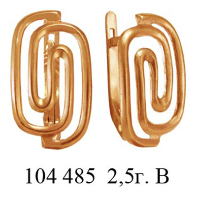 Серьги 104485